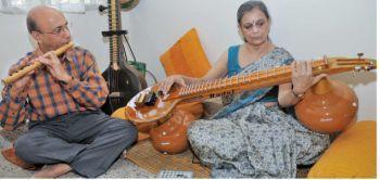 Bangalore: G. Raj Narayan and Radhika Raj Narayan of Radel Electronics at an interview with The Hindu on October, 26, 2010. (pic to go with Ranjani Govind's story) Photo: V Sreenivasa Murthy.